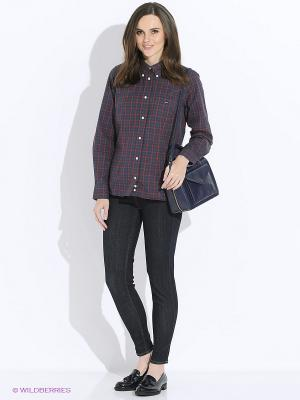 Рубашка Eden Park. Цвет: темно-синий, серый, красный