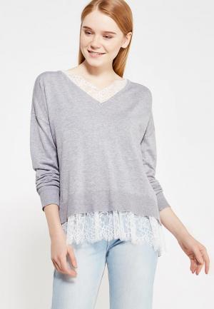 Пуловер Befree. Цвет: серый