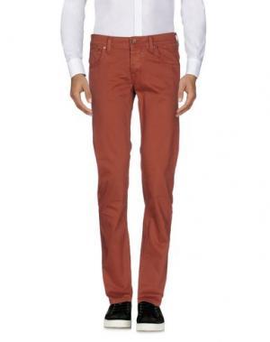 Повседневные брюки 0/ZERO CONSTRUCTION. Цвет: ржаво-коричневый