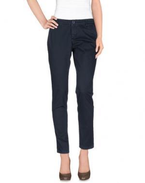 Повседневные брюки DERRIÉRE. Цвет: темно-синий