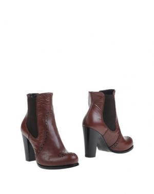 Полусапоги и высокие ботинки EMANUELA PASSERI. Цвет: какао