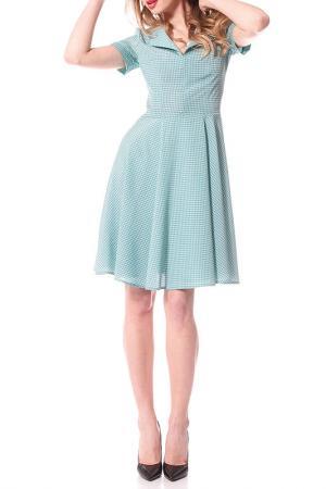 Полуприлегающее платье с отложным воротником OKS BY OKSANA DEMCHENKO. Цвет: салатовый