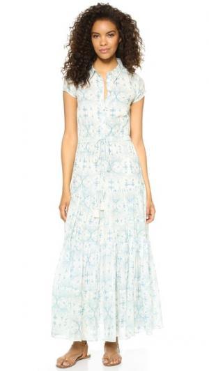 Платье Nathalie с короткими рукавами Carolina K. Цвет: birds cream