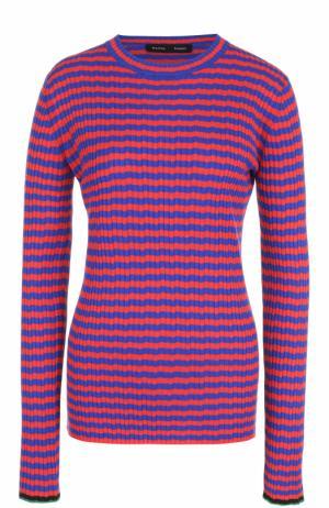 Облегающий пуловер фактурной вязки в контрастную полоску Proenza Schouler. Цвет: разноцветный
