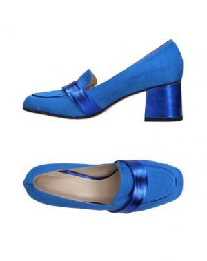 Мокасины LUCA VALENTINI. Цвет: синий