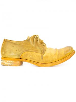 Туфли на шнуровке A Diciannoveventitre. Цвет: жёлтый и оранжевый