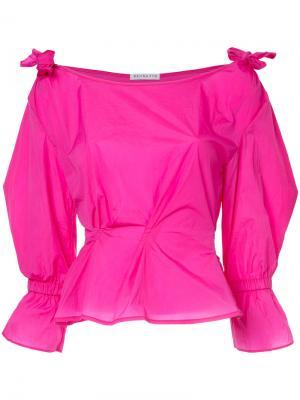 Fitted bow tie shirt Rejina Pyo. Цвет: розовый и фиолетовый