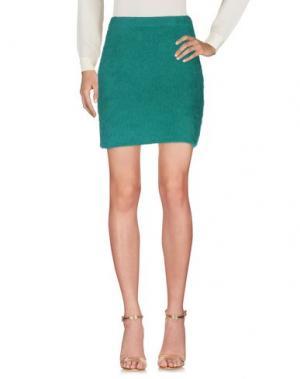 Мини-юбка BEAYUKMUI. Цвет: зеленый