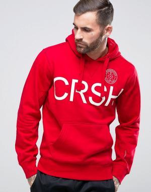 Crosshatch Худи с логотипом. Цвет: красный