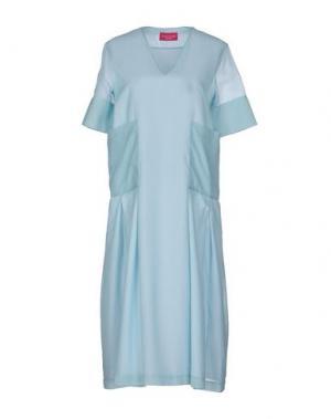 Платье до колена CARLO CONTRADA. Цвет: небесно-голубой