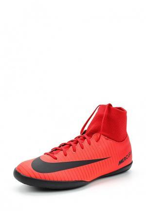 Бутсы зальные Nike. Цвет: красный