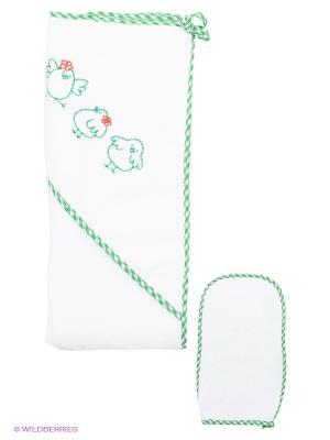 Комплект для купания Ангел мой. Цвет: зеленый, белый