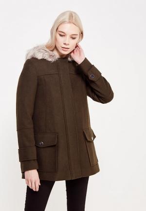 Пальто Dorothy Perkins. Цвет: хаки