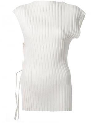 Блузка с рубчик Jacquemus. Цвет: телесный