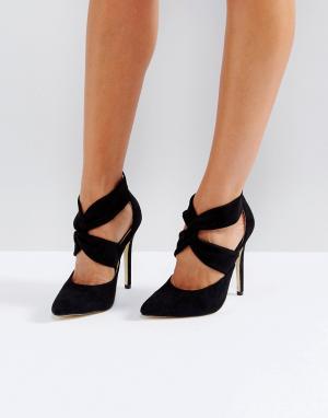 London Rebel Туфли на высоком каблуке с молнией заднике. Цвет: черный
