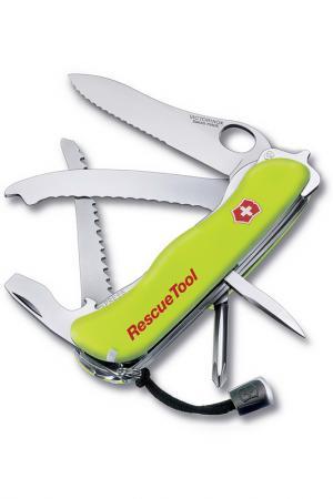 Нож перочинный 14 функций Victorinox. Цвет: желтый