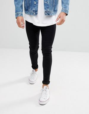Waven Черные джинсы скинни Extreme. Цвет: черный
