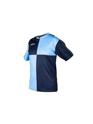 Футболка MITRE. Цвет: синий, голубой