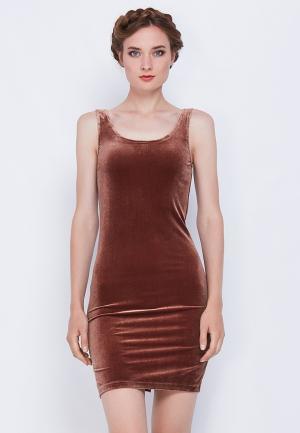 Платье Nothing but Love. Цвет: коричневый