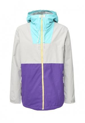 Куртка горнолыжная CLWR. Цвет: мультиколор