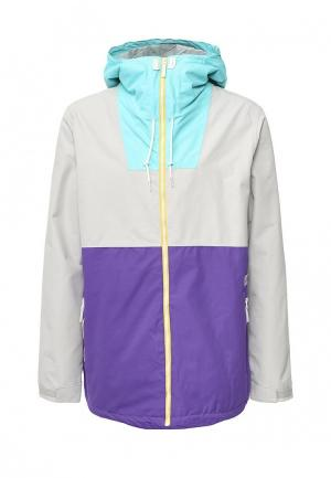 Куртка горнолыжная CLWR. Цвет: разноцветный