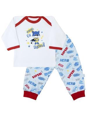 Пижама Веселый малыш. Цвет: голубой, красный, белый