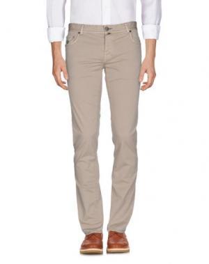 Повседневные брюки LUIGI BORRELLI NAPOLI. Цвет: бежевый