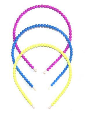 Ободок, 3 шт Lola. Цвет: фиолетовый, желтый, синий