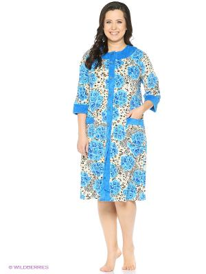 Халат El Fa Mei. Цвет: голубой