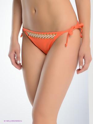 Плавки Michael Kors. Цвет: оранжевый
