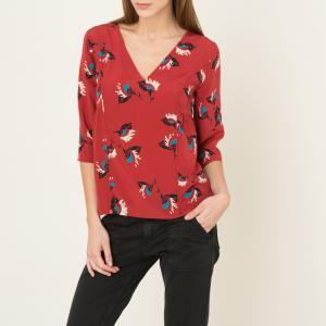 Блузка из шелка PIALA BA&SH. Цвет: кирпичный