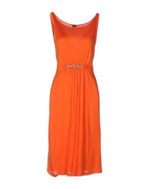 Платье до колена 1-ONE. Цвет: оранжевый