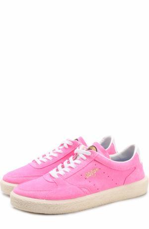Замшевые кеды Tenth Star на шнуровке Golden Goose Deluxe Brand. Цвет: розовый