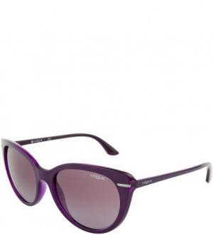 Солнцезащитные очки в фиолетовой оправе VOGUE. Цвет: фиолетовый