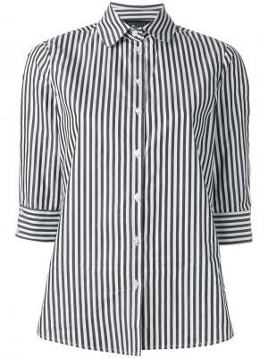 Полосатая поплиновая рубашка Federica Tosi. Цвет: чёрный