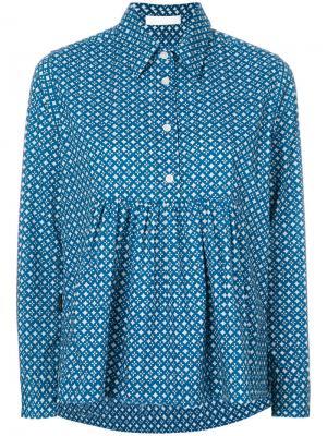 Расклешенная рубашка Peter Jensen. Цвет: синий