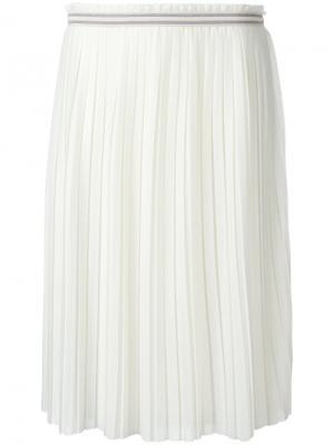 Плиссированная юбка Bellerose. Цвет: белый