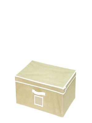 Кофр-короб для хранения вещей Miolla. Цвет: бежевый