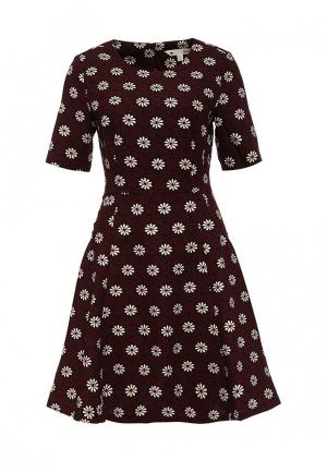 Платье Yumi. Цвет: бордовый