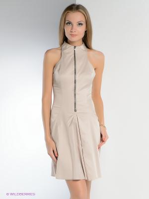 Платье FRENCH HINT. Цвет: бежевый