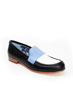 Туфли STUDIO POLLINI. Цвет: черный, белый, серо-голубой