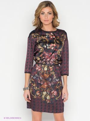 Платье Pompa. Цвет: черный, красный