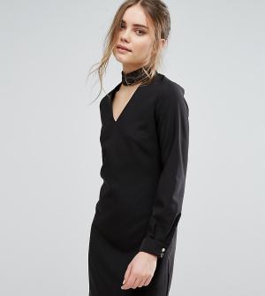 Closet London Платье мини с чокером. Цвет: черный