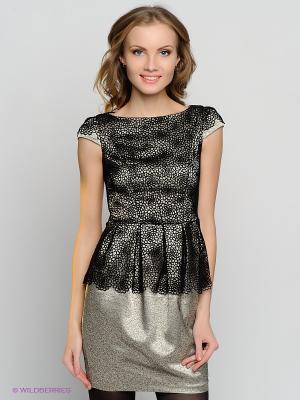 Платье Verezo. Цвет: светло-зеленый, черный