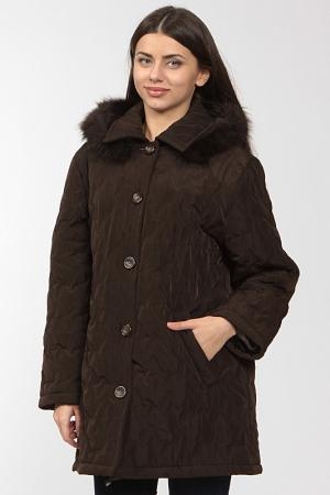 Пальто Christina Dea. Цвет: коричневый