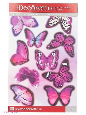 Бабочки Ультрафиолет DECORETTO. Цвет: сиреневый, фиолетовый