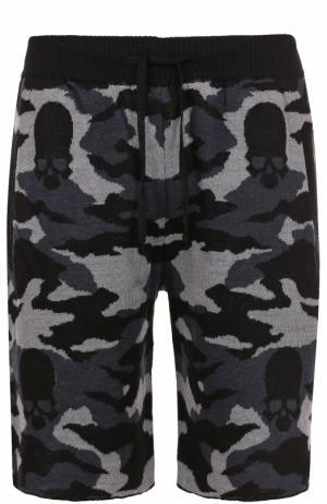 Льняные шорты с принтом Gemma. H. Цвет: черный
