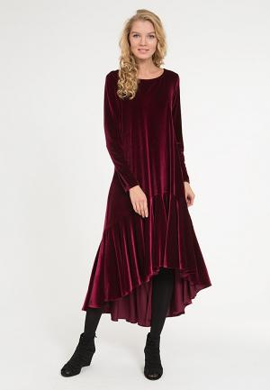 Платье Yaroslavna. Цвет: бордовый