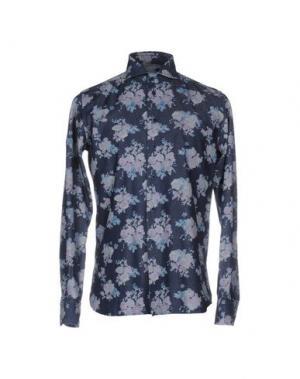 Джинсовая рубашка BRANCACCIO C.. Цвет: синий