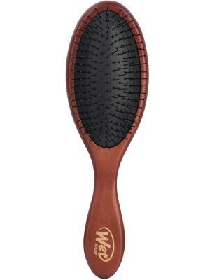 BWP830NTLM MEDIUM WOOD Щетка для спутанных волос деревянная (средне-темное дерево) WET BRUSH. Цвет: коричневый